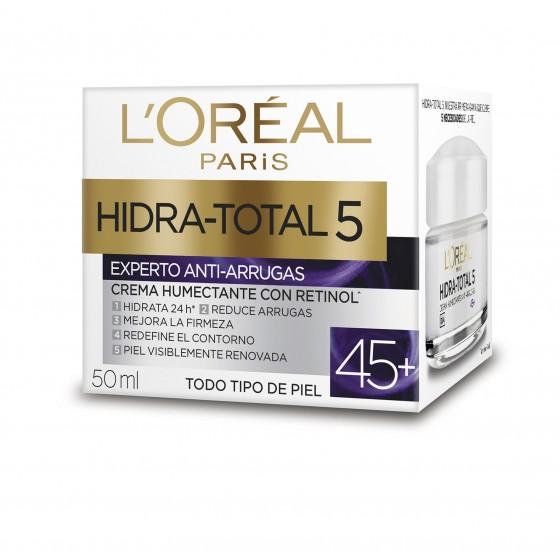 L'OREAL CREMA HIDRA-TOTAL 50ML ANTI-ARRUGAS RETINOL 45+