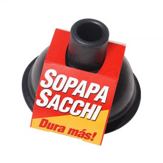 SACCHI SOPAPA DE GOMA NEGRA