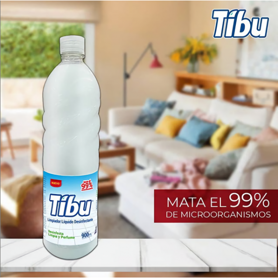 TIBU DESINFECTANTE LIQUIDO 900ML BLANCO