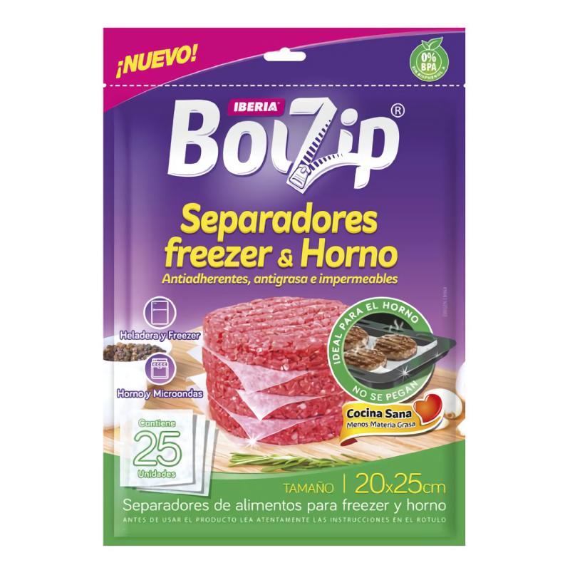 BOLZIP SEPARADORES FREEZER Y HORNO 25U