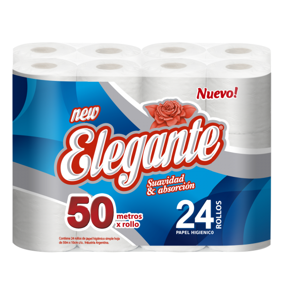 ELEGANTE PAPEL HIGIENICO 24U 50M (COD-1010)