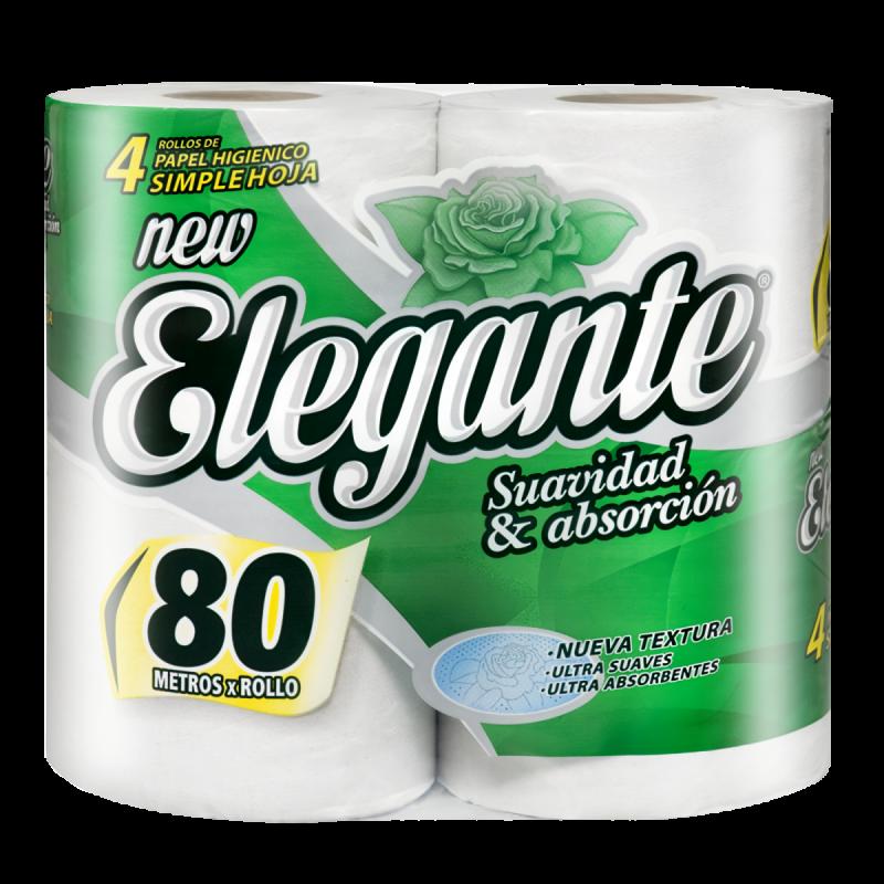 ELEGANTE HIGIENICO MAX 4U 80M (COD-916)