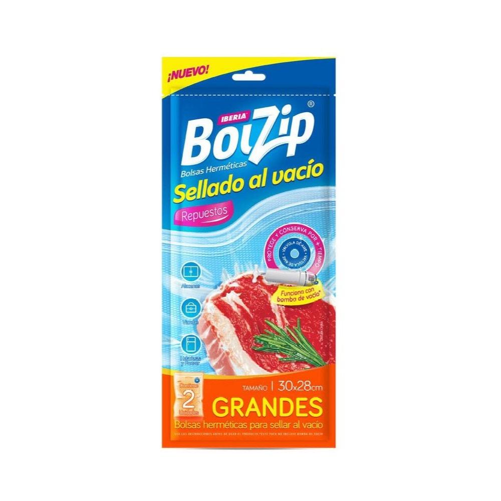 BOLZIP BOLSA AL VACIO REPUESTO 2U 30X28CM