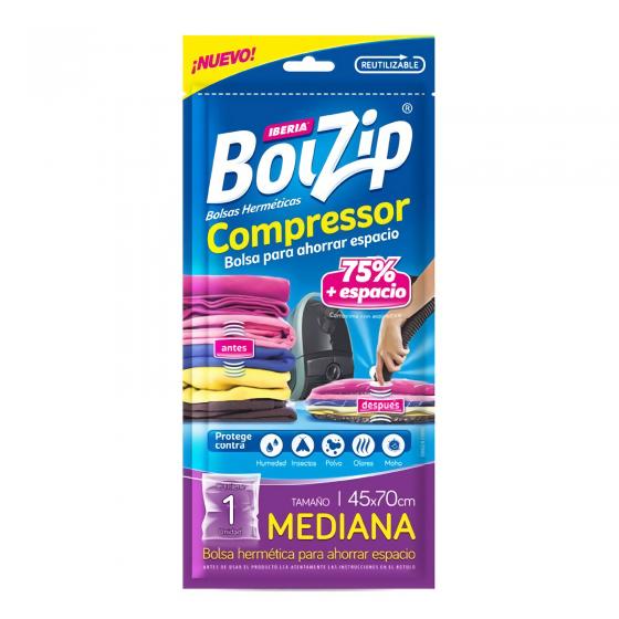 BOLZIP BOLSA COMPRESS 45CM X 70CM 1U