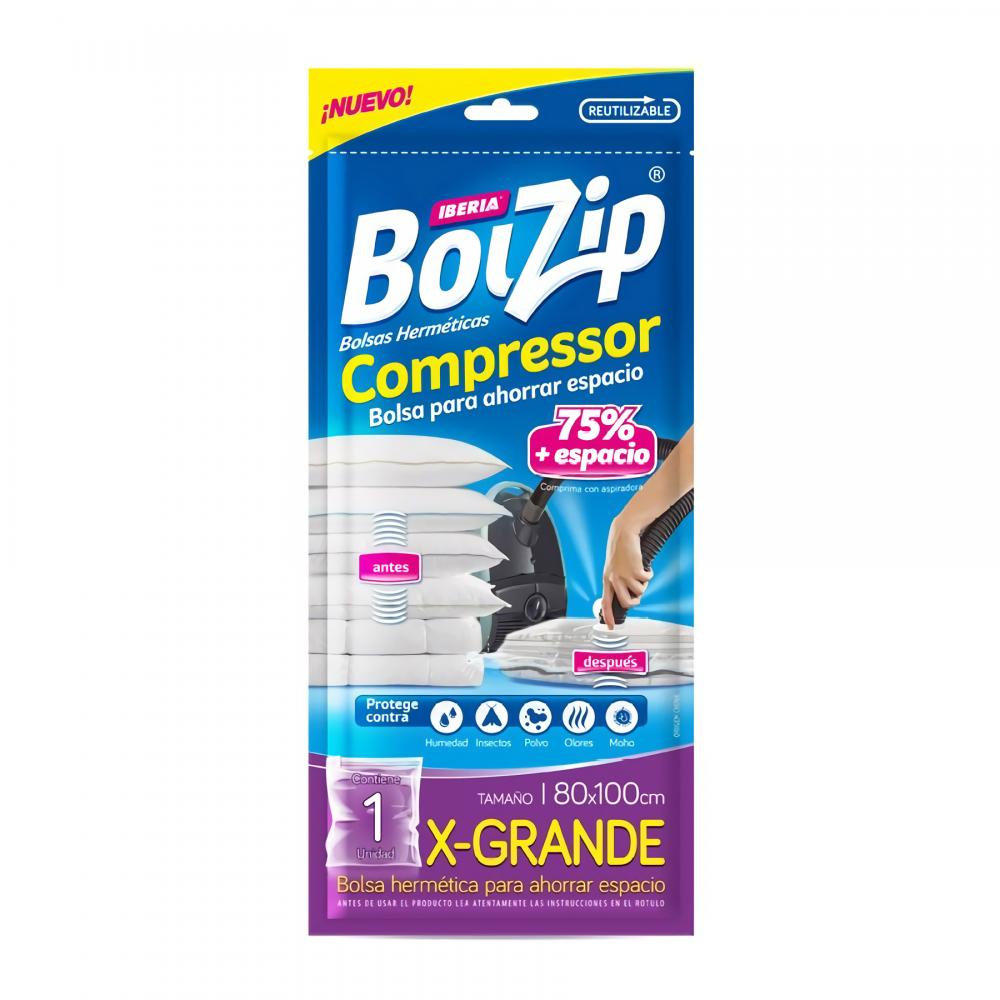 BOLZIP BOLSA COMPRESS 80CM X 100CM 1U