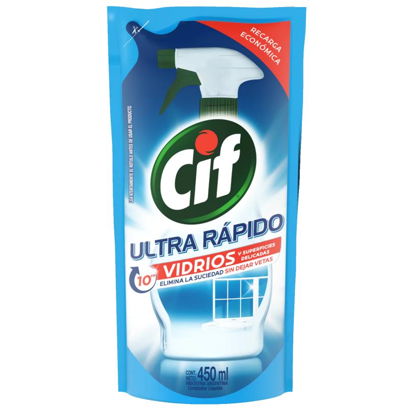 CIF LIMPIADOR VIDRIO SACHET 450ML