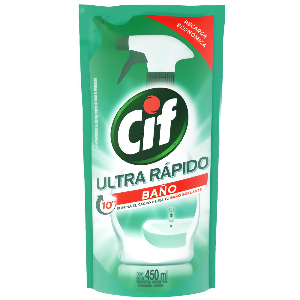 CIF LIMPIADOR BAÑO SACHET 450ML
