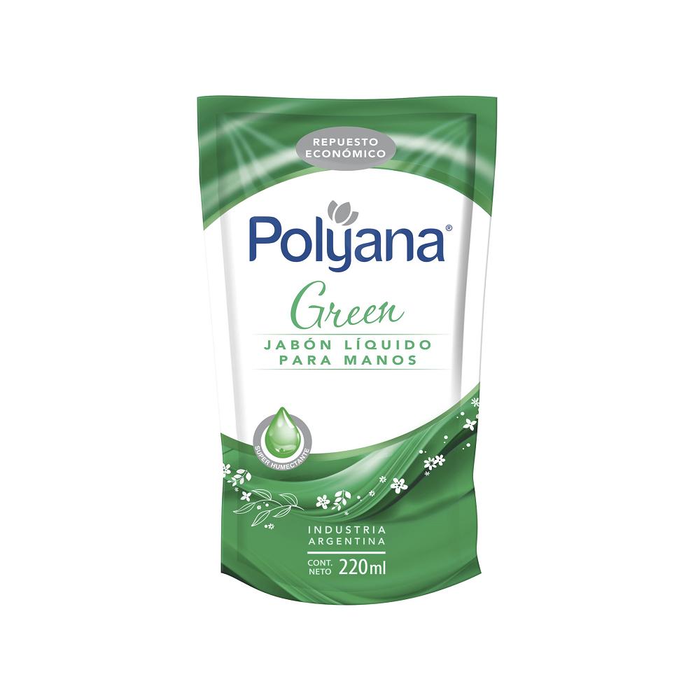 POLYANA JABON LIQUIDO 220ML GREEN
