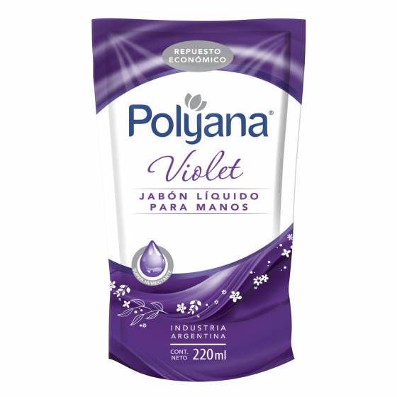 POLYANA JABON LIQUIDO 220ML VIOLET