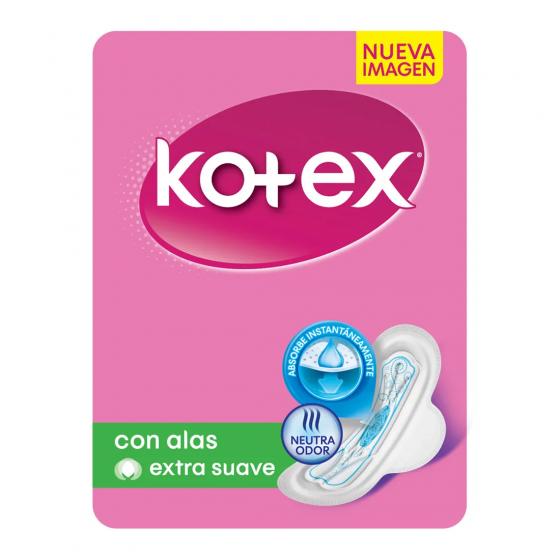 KOTEX TOALLA NORMAL 8U CON ALAS