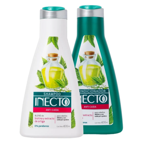 INECTO SHAMPOO 400ML 0% PARABENOS